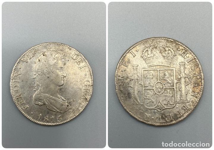 MONEDA. FERNANDO VII. 8 REALES. POTOSI. 1815. PLATA. VER FOTOS (Numismática - España Modernas y Contemporáneas - De Isabel II (1.834) a Alfonso XIII (1.931))
