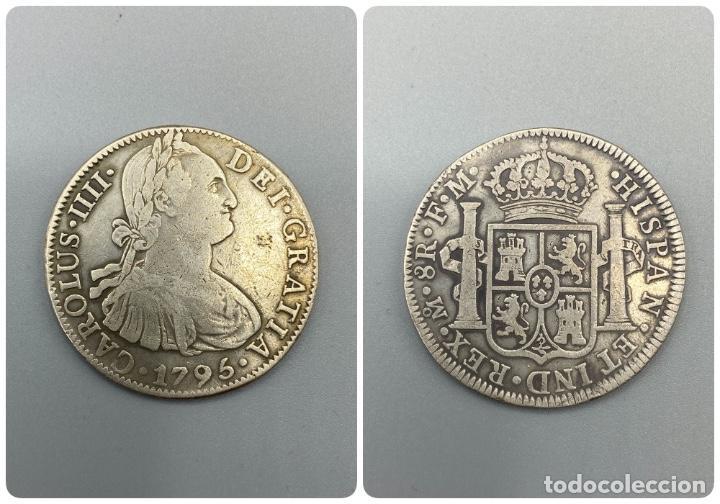 MONEDA. CARLOS IIII. 8 REALES. MEXICO. 1795. PLATA. VER FOTOS (Numismática - España Modernas y Contemporáneas - De Isabel II (1.834) a Alfonso XIII (1.931))
