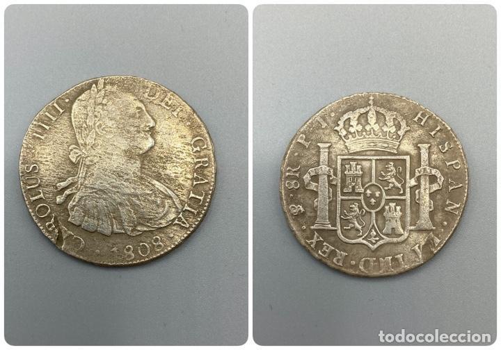 MONEDA. CARLOS IIII. 8 REALES. POTOSI. 1808. PLATA. VER FOTOS (Numismática - España Modernas y Contemporáneas - De Isabel II (1.834) a Alfonso XIII (1.931))