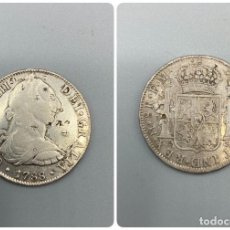 Monedas de España: MONEDA. CARLOS III. 8 REALES. MEXICO. 1788. PLATA. RESELLOS ORIENTALES. VER FOTOS. Lote 222533242