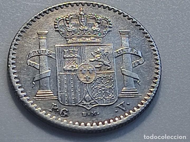 Monedas de España: 5 CENTAVOS 1896 PUERTO RICO ensayador PGV . preciosa MBC+ grabador y ensayadores en la misma cara - Foto 2 - 222552091