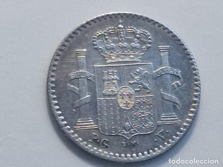 Monedas de España: 5 CENTAVOS 1896 PUERTO RICO ensayador PGV . preciosa MBC+ grabador y ensayadores en la misma cara - Foto 4 - 222552091