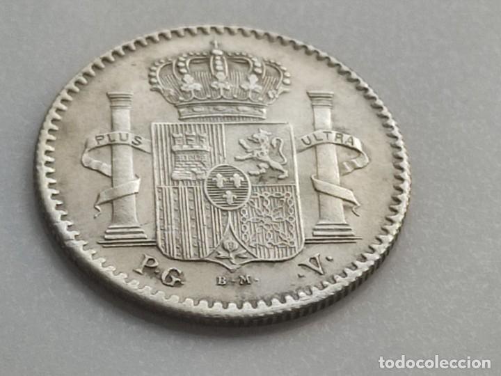 Monedas de España: 5 CENTAVOS 1896 PUERTO RICO ensayador PGV . preciosa MBC+ grabador y ensayadores en la misma cara - Foto 5 - 222552091