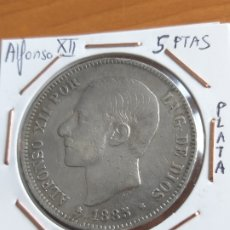 Monedas de España: 5 PESETAS 1885 MS.M. ALFONSO XII. PLATA. Lote 222560342