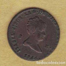 Monedas de España: ISABEL II 1844 2 MARAVEDÍS. SEGOVIA. 048. Lote 222584368