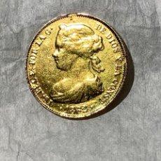 Monedas de España: ESPAÑA. MONEDA 100 REALES ORO 22KT ISABEL II. 1862. ORIGINAL.. Lote 222830878