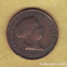 Monedas de España: ISABEL II. 1859. 10 CÉNTIMOS DE REAL. SEGOVIA. 064. Lote 222903078