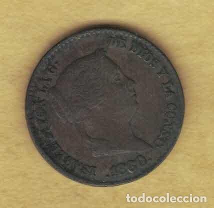 ISABEL II. 1860. 10 CÉNTIMOS DE REAL. SEGOVIA 065 (Numismática - España Modernas y Contemporáneas - De Isabel II (1.834) a Alfonso XIII (1.931))
