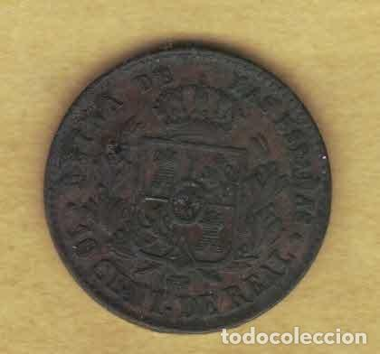 Monedas de España: Isabel II. 1860. 10 céntimos de real. Segovia 065 - Foto 2 - 222903923