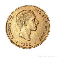 Monedas de España: ALFONSO XII 25 PESETAS ORO 1880 *(18-80) M.S.M COLGADA Y SOLDADURA QUITADA A LAS 12. Lote 222905597