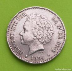 Monedas de España: ANTIGUA MONEDA DE ESPAÑA 50 CENTIMOS 1894 ALFONSO XIII, PLATA 835. Lote 222912446
