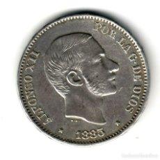 Monedas de España: ESPAÑA 50 CENTAVOS DE PESO PLATA 1885 ALFONSO XII MANILA (ISLAS FILIPINAS) S/C. Lote 222963620