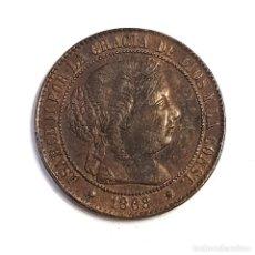Moedas de Espanha: 2 ½ CÉNTIMOS DE ISABEL II 1868 BARCELONA. Lote 223059431
