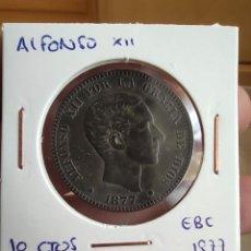Monedas de España: 10 CÉNTIMOS ALFONSO XII 1877 EBC. Lote 223715295