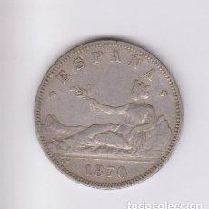 Monedas de España: MONEDAS - GOBIERNO PROVISIONAL - 2 PESETAS 1870, 18-74 (MBC-). Lote 223875215
