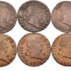 Monedas de España: SEGOVIA: 1825, 1828, 1829, 1830, 1831, 1832, 1832, 1833, 1835, JUBIA: 1819. 2 MARAVEDIS. COLECCION.. Lote 224284256