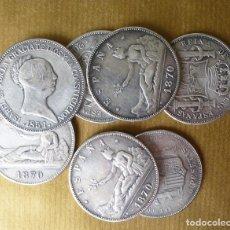 Monedas de España: LOTE MONEDAS ISABEL II 20 REALES. Lote 224285403