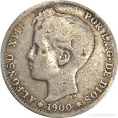 Monedas de España: ESPAÑA. 1 PESETA DE 1900, S.M. V. (ALFONSO XIII). (131).. Lote 201973442