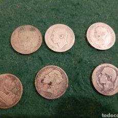 Monedas de España: LOTE DE MONEDAS ESPAÑOLAS DE 1 PESETA DE PLATA DE 1870 A 1903. Lote 224533068