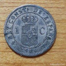 Monedas de España: MONEDA DE COBRE DE 1 CENTIMO ALFONSO XIII.1906.. Lote 224572422