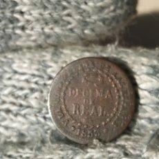 Monedas de España: 1 DECIMA DE REAL 1853 SEGOVIA ISABEL II. Lote 224693895