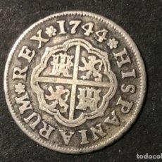 Monedas de España: FELIPE V 1 REAL 1744 SEVILLA. Lote 224745635