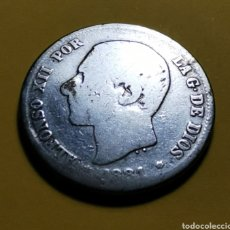 Monete da Spagna: MONEDA ESPAÑA ... ALFONSO XII 2 PESETAS 1881 .. PLATA. Lote 224762301