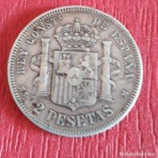 Monedas de España: MONEDA DE 2 PESETAS DE ALFONSO XIII.1882.. Lote 224831451