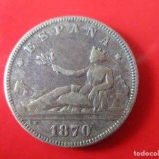 Monedas de España: GOBIERNO DE LA I REPUBLICA. 2 PESETAS DE PLATA 1870 ·*74. Lote 224968968