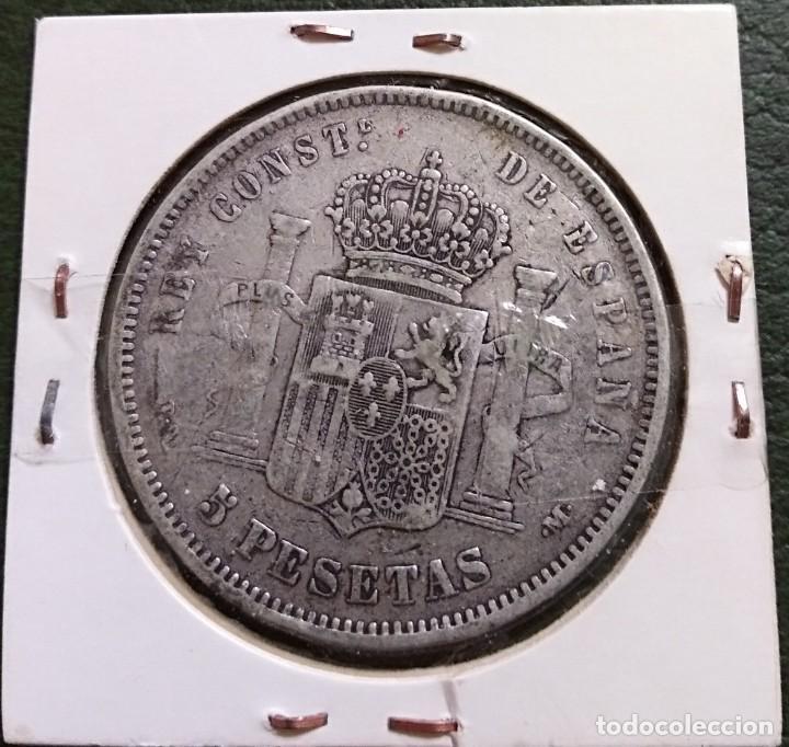 Monedas de España: Duro de plata 5 pesetas Alfonso XIII 1891 *--91 España - Foto 2 - 225290060