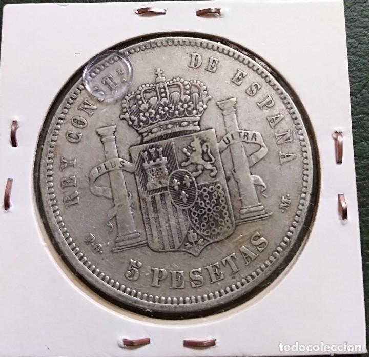Monedas de España: Duro de plata 5 pesetas Alfonso XIII 1891 *--91 España - Foto 2 - 225290330