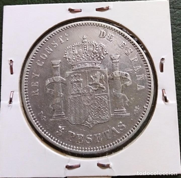 Monedas de España: Duro de plata 5 pesetas Alfonso XIII 1891 *--91 España - Foto 2 - 225290422