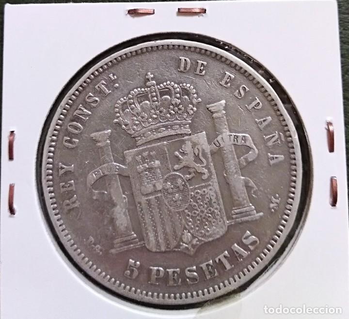 Monedas de España: Duro de plata 5 pesetas Alfonso XIII 1891 *--91 España - Foto 2 - 225290505