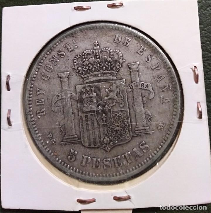 Monedas de España: Duro de plata 5 pesetas Alfonso XIII 1891 *--91 España - Foto 2 - 225290595