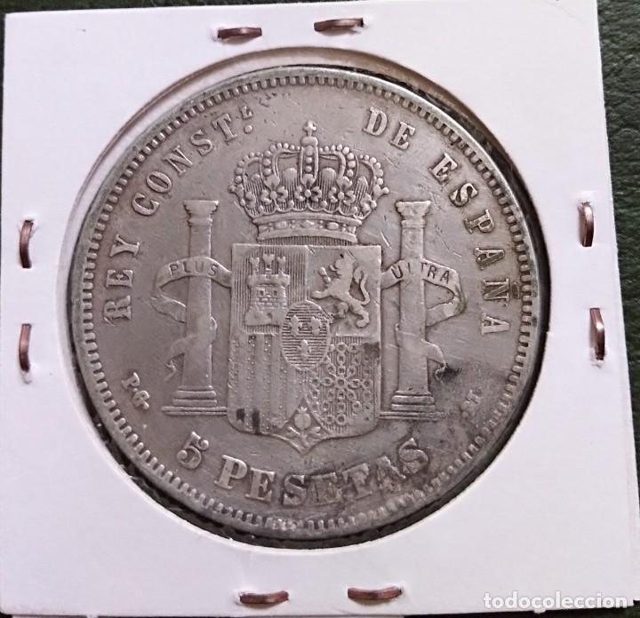 Monedas de España: Duro de plata 5 pesetas Alfonso XIII 1891 *--91 España - Foto 2 - 225290705