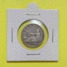 Monedas de España: MONEDA DE 1 PESETA 1870 DE-M GOBIERNO PROVISIONAL PLATA 835 MILESIMAS. Lote 225301400