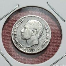Moedas de Espanha: 5 CENTIMOS 1880 DE PLATA. Lote 225323548
