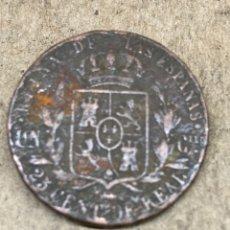 Moedas de Espanha: MONEDA 25 CENTS DE REAL 1862. Lote 225491430