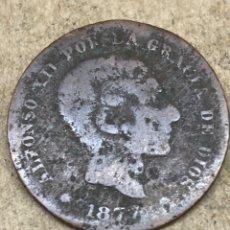 Moedas de Espanha: MONEDA CINCO CÉNTIMOS 1877. Lote 225493347
