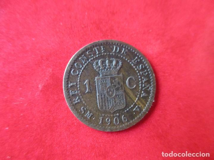 ALFONSO XIII. 1 CENTIMO. 1906 SMV. MUY RARO. #SG (Numismática - España Modernas y Contemporáneas - De Isabel II (1.834) a Alfonso XIII (1.931))