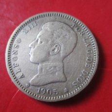 Monedas de España: ALFONSO XIII. 1 PTA. 1905 SMV. MUY RARA. ·#SG. Lote 225832000