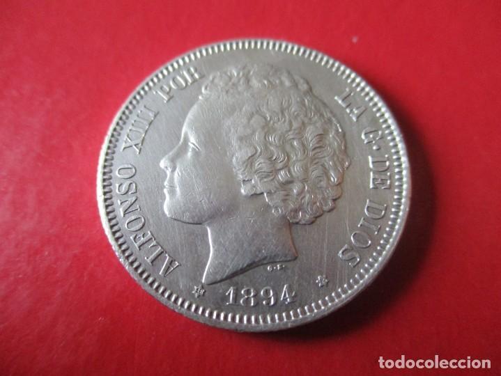 ALFONSO XIII. 2 PTS. 1894 PGV. MUY RARA. ·#SG (Numismática - España Modernas y Contemporáneas - De Isabel II (1.834) a Alfonso XIII (1.931))