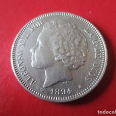 Monedas de España: ALFONSO XIII. 2 PTS. 1894 PGV. MUY RARA. ·#SG. Lote 225833357