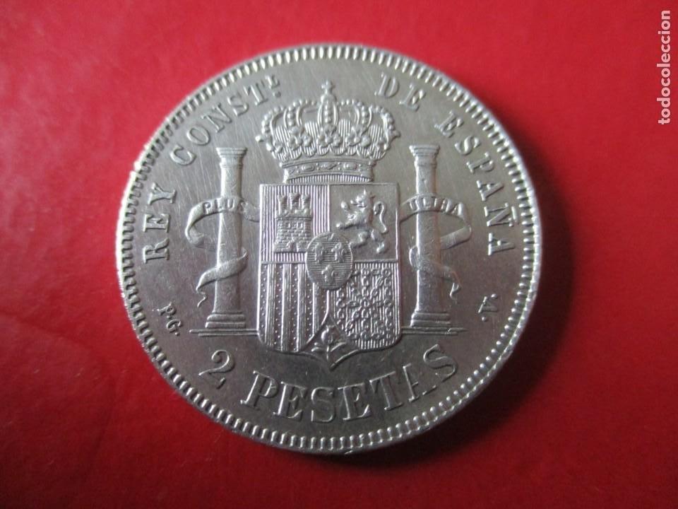 Monedas de España: Alfonso XIII. 2 pts. 1894 PGV. muy rara. ·#SG - Foto 2 - 225833357