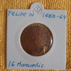 Monedas de España: 16 MARAVEDIS FELIPE IV 1660/64.. Lote 225996143