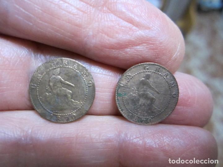 MONEDAS DE 1 CÉNTIMO (2) DE 1870 PRIMERA REPÚBLICA (Numismática - España Modernas y Contemporáneas - De Isabel II (1.834) a Alfonso XIII (1.931))