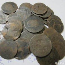 Monedas de España: LOTE DE 40 MONEDAS DE 5 Y10 CÉNTIMOS SIGLO XIX. Lote 226166830