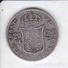 Monedas de España: MONEDA DE 20 CENTAVOS DE PLATA DEL AÑO 1885 DE ALFONSO XII - FILIPINAS. Lote 226500640