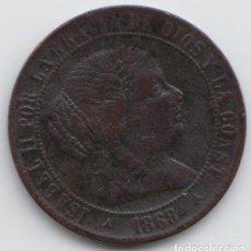 Monedas de España: 2 1/2 CÉNTIMOS DE ESCUDO, ISABEL II AÑO 1868 -OM. Lote 226629055