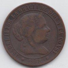 Monedas de España: 2 1/2 CÉNTIMOS DE ESCUDO, ISABEL II AÑO 1868 -OM. Lote 226629945